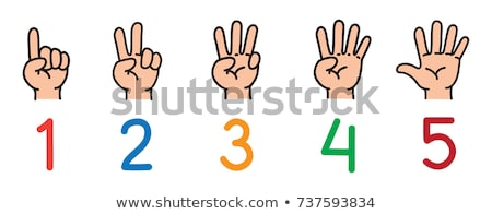 Child's hand showing number four stock photo © Len44ik