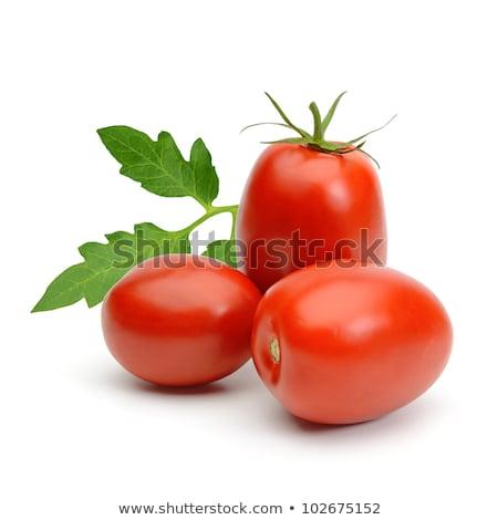 vers · gesneden · roma · tomaten · Rood · ovaal - stockfoto © ozaiachin