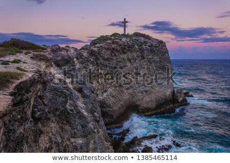 dramatic sundown scenery at Guadeloupe Stock photo © prill