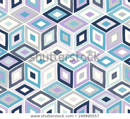 vector funny abstract seamless cubes pattern stock photo © pzaxe