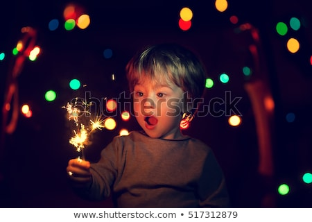 Stock photo: child with sparklers