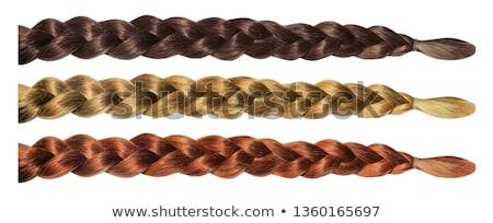 Natural blonde braided hair Stock photo © Es75