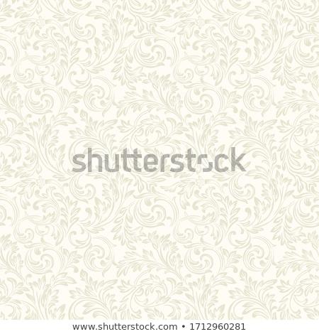 Damaszt klasszikus virágmintás minta vektor eps Stock fotó © ikopylov