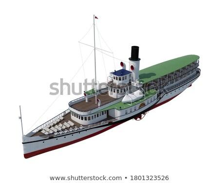 Historyczny parowiec starych miasta łodzi Zdjęcia stock © jkraft5
