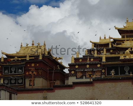 Golden roof of a lamasery in Tibet Stock photo © bbbar