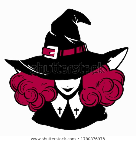 Vintage halloween witch hat Stock photo © Krisdog