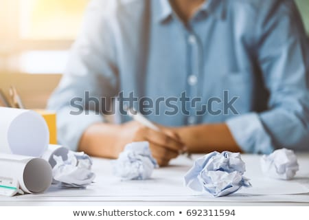 Plans on Crumpled paper Stock photo © stevanovicigor