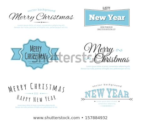 eaad462a469de 2014 Merry Christmas Vintage typo background vector illustration ...