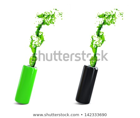 Green and black aluminium cans with energy drink. Stock photo © Kirill_M