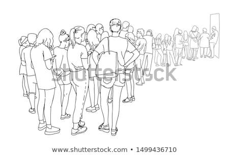 Illusztráció sziluett rajz nő hát fehér Stock fotó © Glenofobiya