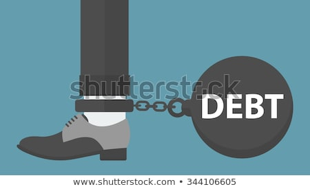 businessman with a foot chained to a loan sign stock photo © kirill_m