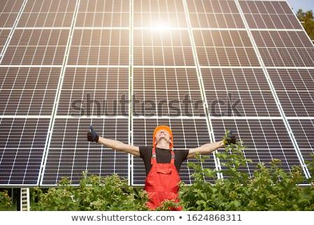 Solar Panel House Showing Renewable Energy Stock photo © stuartmiles