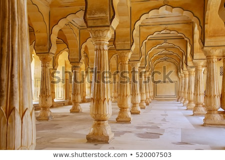 bursztyn · fort · wspaniały · pałac · Indie - zdjęcia stock © faabi