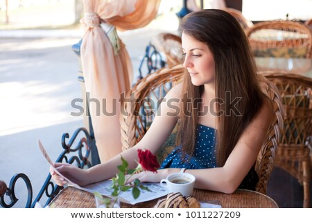Portrait of an attractive fashionable young brunette woman hands Stock photo © HASLOO