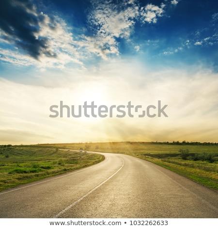 劇的な 空 アスファルト 道路 車 ソフト ストックフォト © mycola