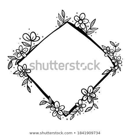 Diamond cross, greeting card, vector illustration Stock photo © carodi