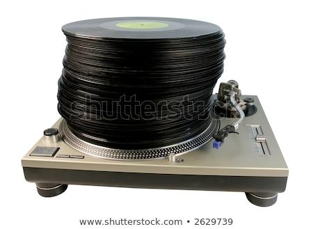 ビニール · レコード · 白 · 音楽 · 背景 · ディスコ - ストックフォト © suljo