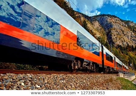 Ferrovia panorama natura sfondo viaggio acciaio Foto d'archivio © tepic