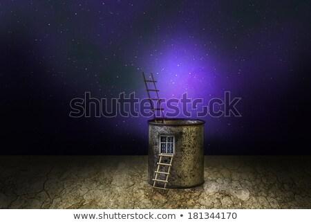 Misterioso fantasia casa cosmico scenario abstract Foto d'archivio © fotoaloja