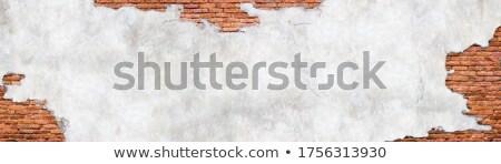 Parede tijolos gesso pintar urbano Foto stock © meinzahn
