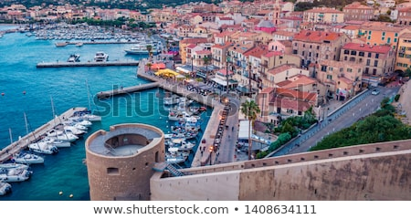 Calvi port and citadel, Corsica Stock photo © Joningall