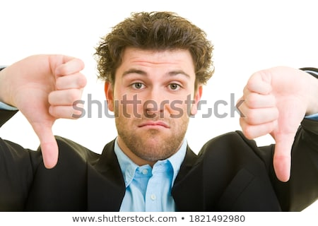 business man shows both thumbs down Stock photo © feedough
