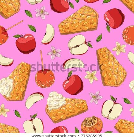 dojrzały · czerwone · jabłko · zielony · liść · kroplami · wody · odizolowany · biały - zdjęcia stock © givaga