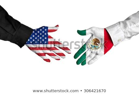 美國 墨西哥 握手 業務 手 成功 商業照片 © Zerbor