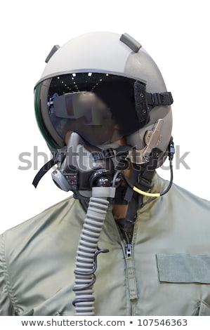 Retrato modelo capacete masculino belo jovem Foto stock © dashapetrenko