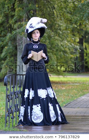 Attractive young woman in Victorian style corset  Stock photo © Elisanth