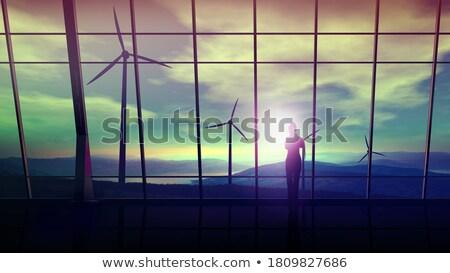 Businesswoman and wind Stock photo © Novic
