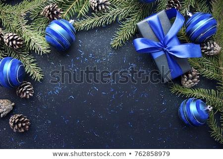 Weihnachten blau Spielerei tief glänzend bokeh Stock foto © dariazu