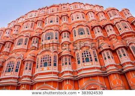 szél · palota · építkezés · festmény · Ázsia · ősi - stock fotó © akhilesh