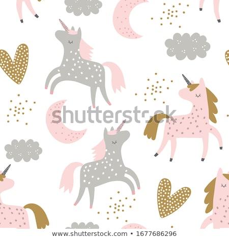 красивой · розовый · иллюстрация · ходьбе · золото - Сток-фото © dazdraperma