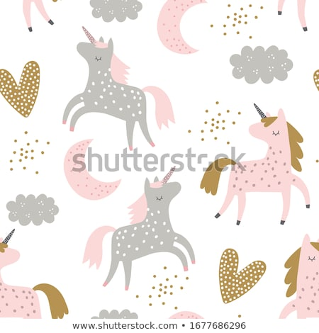 Сток-фото: иллюстрация · красивой · розовый · ребенка · лошади · карт