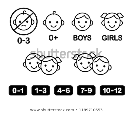 Piktogram gyermek toalett ikonok férfi test Stock fotó © kiddaikiddee