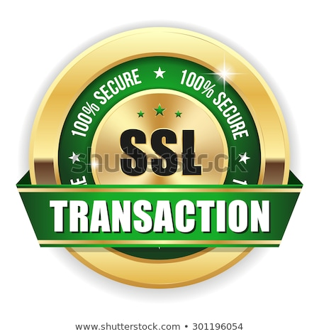 secure transaction gold vector icon button stock photo © rizwanali3d