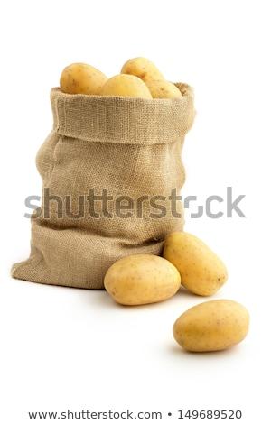 Farm fresh  potatoes on a hessian sack Stock photo © juniart
