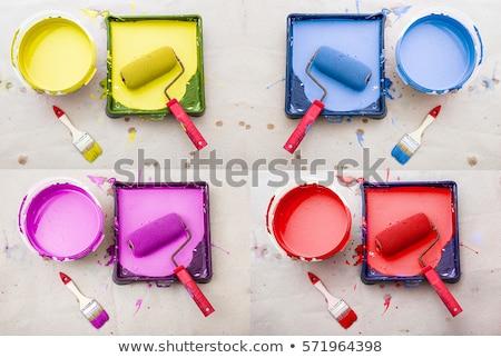 può · blu · vernice · illustrazione · bianco · arte - foto d'archivio © loopall