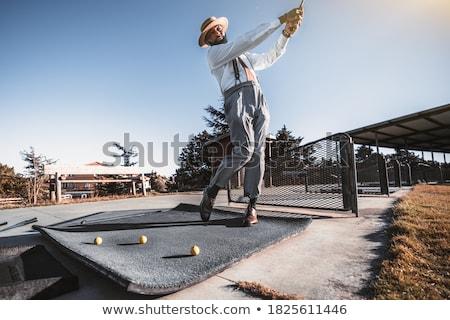 Suspended Golf Balls Stock photo © JFJacobsz