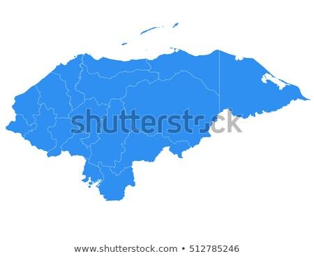 силуэта карта Гондурас знак белый Сток-фото © mayboro