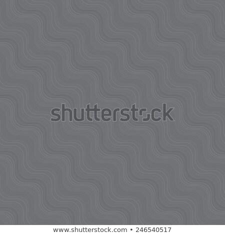 repeating ornament many diagonal wavy lines gray texture stock photo © zebra-finch