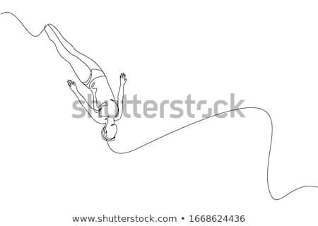 Swimmer diving concept Stock photo © Krisdog