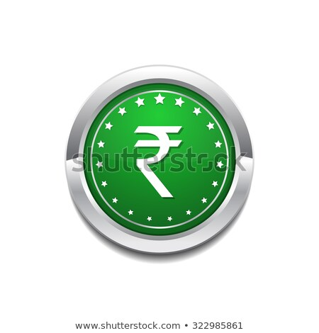 Rupee Currency Sign Vector GreenWeb Icon Button Stock photo © rizwanali3d
