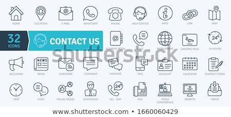 Email címkönyv könyvjelző szalag fehér iroda Stock fotó © m_pavlov