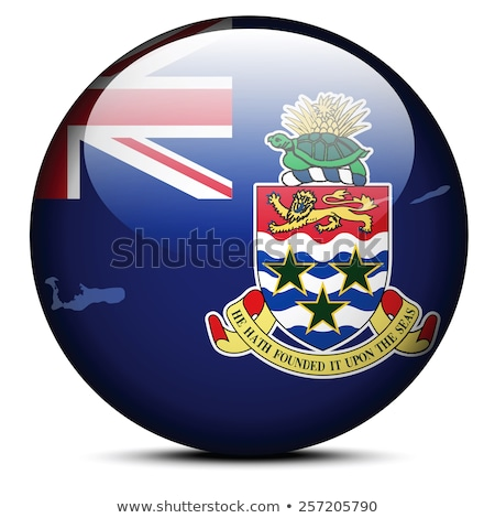 Map on flag button of Cayman Islands Stock photo © Istanbul2009