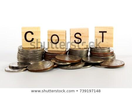 Costo financieros negocios primer plano blanco Foto stock © vinnstock