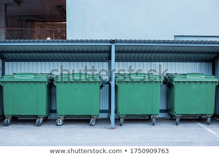 Old metal garbage trash container refuse bin Stock photo © Hermione