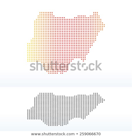 Map of Federal Republic  Nigeria with Dot Pattern Stock photo © Istanbul2009
