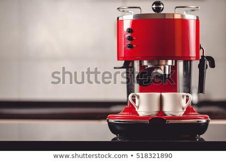 エスプレッソ マシン ホットドリンク コーヒー レストラン カフェ ストックフォト © OleksandrO